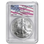 2001 Silver American Eagle - MS-69 PCGS - World Trade Center