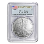 2006 Silver Eagle - MS-70 PCGS - First Strike - Registry Set