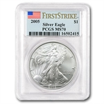 2005 Silver Eagle - MS-70 PCGS - First Strike - Registry Set