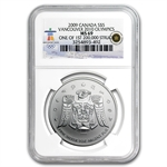 2009 1 oz Silver Canadian Maple Leaf MS-69 NGC (Vancouver)