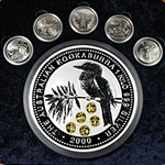 2000 1 Kilo Silver Australian Kookaburra - Gold Honor Mark