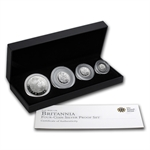 2010 4-Coin Silver Britannia Set - Proof (w/Box & CoA)