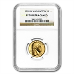 1999-W George Washington - $5 Gold Commem - PF-70 UCAM NGC