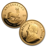 1999 5-Coin Proof Gold Krugerrand Set (Century Ed.)(w/Box & CoA)
