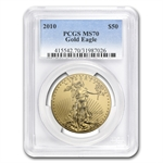 2010 1 oz Gold American Eagle MS-70 PCGS (25th Year of Issue)