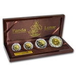 2007 Pig China Panda Gold/Silver Lunar Prestige 4 Coin Proof Set