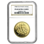 Isle of Man 1984 1 Angel Gold Proof NGC PF-69 UCAM