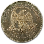 1876 Trade Dollar - Almost Uncirculated-55 PCGS