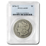 1878-CC Morgan Dollar - AG-3 PCGS Low Ball Registry Coin
