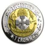 Gibraltar 2001 Tri-Metal Crown (Proof) w/Box & COA