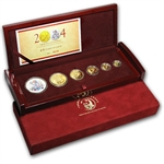 2004 China Panda Gold & Silver Lunar Monkey 6 Coin Proof Set