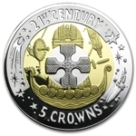 2001 Gibraltar Tri-Metal 5 Crown (Proof)