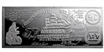8 oz Prooflike Silver Bar - CSA $20 Bill (1861) - .999 Fine