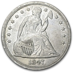 1847 Liberty Seated Dollar - Extra Fine