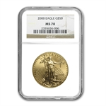 2008 1 oz Gold American Eagle MS-70 NGC