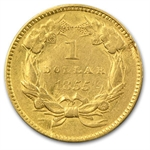 1855 $1 Indian Head Gold - VF Details - (Dates of our Choice)