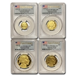 2008-W 4-Coin Gold Buffalo Set PR-70 PCGS (FS) Registry Set