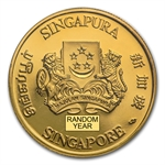 Singapore 1/4 oz Gold $25 - Random Year