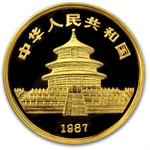 1987 (1/20 oz Proof) Gold Chinese Pandas - NGC PF-68 UCAM