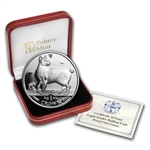 Isle of Man 1994 1 Crown Silver Proof Japanese Bobtail Cat