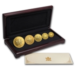 2001 5-Coin Viking Heritage Gold Canadian Maple Leaf Set