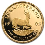 1985 1/2 oz Proof Gold South African Krugerrand