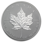 1998 10 oz Silver Canadian Maple Leaf (10th Anniversary)