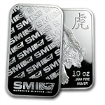 10 oz New Proof-Like Tiger Silver Bar .999 Fine