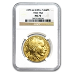 2008-W 1 oz Gold Buffalo MS-70 NGC