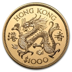 Hong Kong 1976 $1000 Gold - Year of the Dragon (BU)