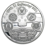 1 oz Remember! Twin Towers 9/11/2001 Silver Round
