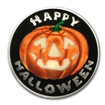 1 oz Glow-In-the-Dark Jack O'Lantern Silver Round(w/ Pouch & Cap)