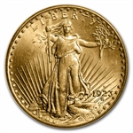 1923-D $20 St. Gaudens Gold Double Eagle - MS-66 PCGS