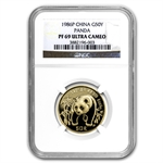 1986 (1/2 oz Proof) Gold Chinese Pandas - NGC PF-69 UCAM