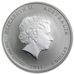 2011 1 oz Silver Australian Year of the Rabbit Series II