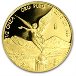 2010 1.9 oz Gold Mexican Libertad Proof 5-Coin Wood Box Set