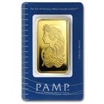 100 gram Pamp Suisse Gold Bar .9999 Fine - In Assay (Pressed)