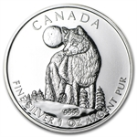 2011 1 oz Silver Canadian Wildlife Series - Wolf