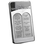10 oz Ten Commandments Silver Bar .999 Fine