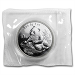 1998 Silver Chinese Pandas 1 oz - (Sealed) - Large Date