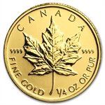 2011 1/4 oz Gold Canadian Maple Leaf