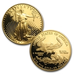 4-Coin Proof Gold American Eagle Set (Random Year, W/Box & CoA)