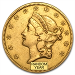 $20 Liberty Gold Double Eagle - Type 1 1850-1866 - (Cleaned)