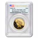 2010-W 1/2 oz Proof Gold Buchanan's Liberty PR-70 PCGS DCAM (FS)
