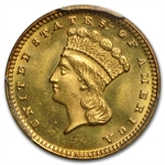 $1 Indian Head Gold - Type 3 - MS-65 NGC or PCGS