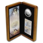 2006 1 oz Silver Canadian Peregrine Falcon Coin and Stamp Set