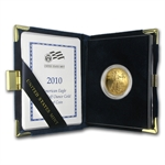 2010-W 1/2 oz Proof Gold American Eagle (w/Box & CoA)
