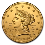 2010-W 1/2 oz Uncirculated Gold Buchanan's Liberty (w/Box & CoA)