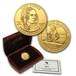 2010-W 1/2 oz Uncirculated Gold Jane Pierce (w/Box & CoA)