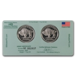 2x 1/2 oz Johnson Matthey Palladium Lewis & Clark Proof Set